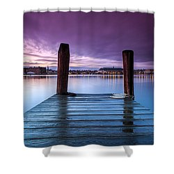 Damp Sunset Shower Curtain