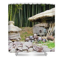 Damyang Bamboo Forests Shower Curtain by Lanjee Chee