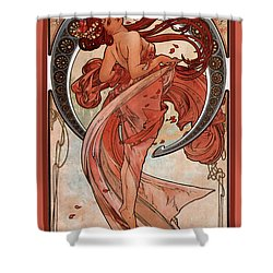 Dance Shower Curtain by Alphonse Maria Mucha