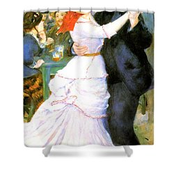 Dance At Bougival Shower Curtain by Pierre Auguste Renoir