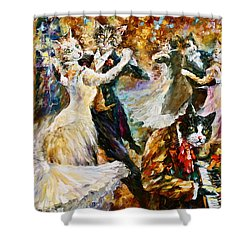 Dance Ball Of Cats  Shower Curtain by Leonid Afremov