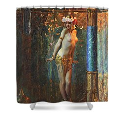 Dance De Salome Shower Curtain by Gaston Bussiere