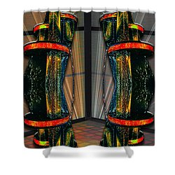Dance In The Abstract Shower Curtain by John Haldane
