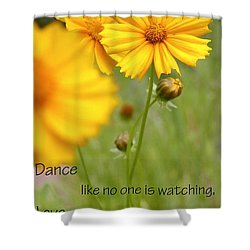 Dance Love Work 200509 Shower Curtain by Jerry Sodorff
