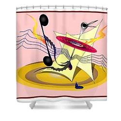 Dance Music Shower Curtain