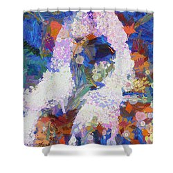 Shower Curtain featuring the painting Dance Of Fools by Joe Misrasi