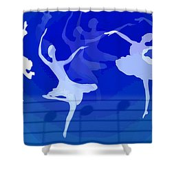 Dance The Blues Away Shower Curtain by Joyce Dickens