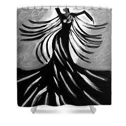 Shower Curtain featuring the painting Dancer 2 by Anita Lewis