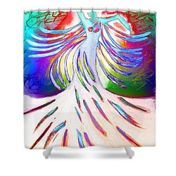 Shower Curtain featuring the painting Dancer 4 by Anita Lewis