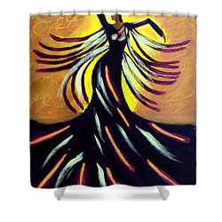 Shower Curtain featuring the painting Dancer by Anita Lewis