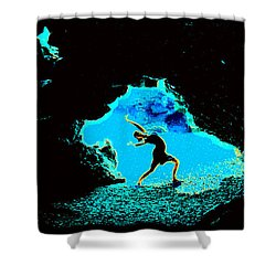Shower Curtain featuring the photograph Dancer On The Edge Of Time by Susanne Still