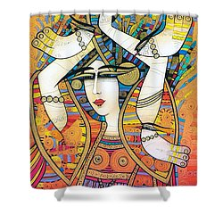 Dancer With Doves Shower Curtain
