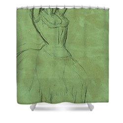 Dancer With Raised Arms Shower Curtain by Edgar Degas