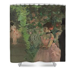 Dancers Backstage Shower Curtain by Edgar Degas