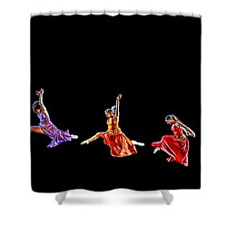 Shower Curtain featuring the photograph Dancers In Flight by Bill Howard
