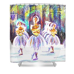 Dancers In The Forest II Shower Curtain by Kip DeVore
