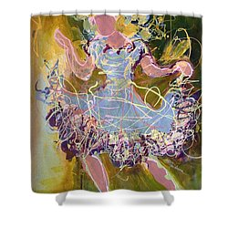 Dancing 1 Shower Curtain by Marilyn Jacobson