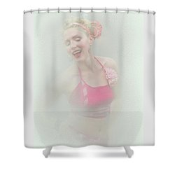 Dancing Around The Tip Of Hysteria Shower Curtain
