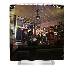 Dancing At The Purple Fiddle With Bryan Elijah Smith And The Wild Heart Band  Shower Curtain by Dan Friend