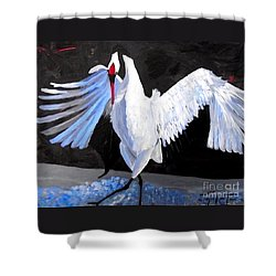 Dancing Crane Shower Curtain