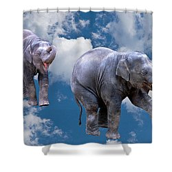 Dancing Elephants Shower Curtain