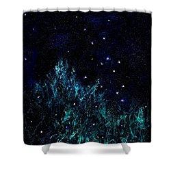 Dancing Fireflies Shower Curtain
