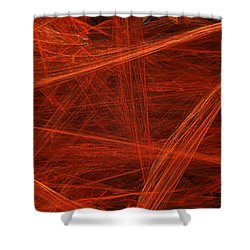 Dancing Flames 1 H - Panorama - Abstract - Fractal Art Shower Curtain by Andee Design
