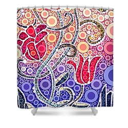 Dancing Flowers At Sunrise Shower Curtain