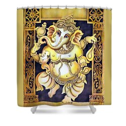Dancing Ganesh Shower Curtain by Vishwajyoti Mohrhoff