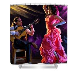 Dancing Gypsy Woman Shower Curtain