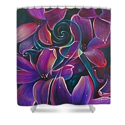 Dancing Hyacinths Shower Curtain