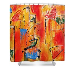 Dancing In The Heat Shower Curtain by Jason Williamson