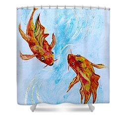 Dancing Koi Sold Shower Curtain