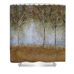 Dancing Leaves Shower Curtain by Tim Townsend