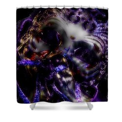 Dancing Masquerade Shower Curtain by Amanda Eberly-Kudamik