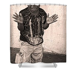 Dancing' On Decatur For Dollars Shower Curtain by Kathleen K Parker