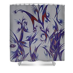 Dancing Pen Shower Curtain by Robert Nickologianis