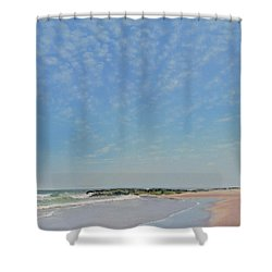 Dancing Sky In April Shower Curtain