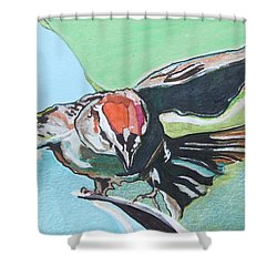 Dancing Sparrow Shower Curtain