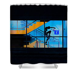 Dancing To Floor G Night People Shower Curtain by Bob Orsillo