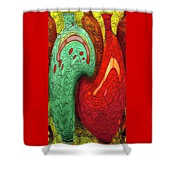 Dancing Vases Shower Curtain by Ben and Raisa Gertsberg