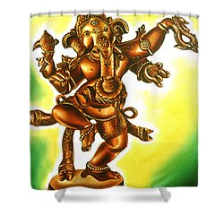 Dancing Vinayaga Shower Curtain