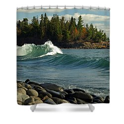 Shower Curtain featuring the photograph Dancing Waves by James Peterson