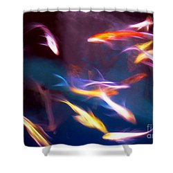 Dancing With Koi Shower Curtain