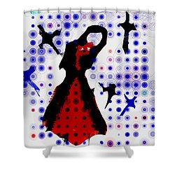 Shower Curtain featuring the photograph Dancing With The Birds by Jessica Shelton