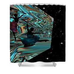 Dancing With The Stars-featured In Harmony And Happiness Group Shower Curtain by EricaMaxine  Price