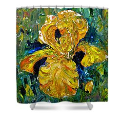 Dancing Yellow Iris Shower Curtain