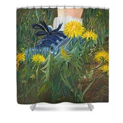Dandelion Dance Shower Curtain