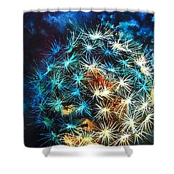 Dandy Puff Shower Curtain by Kathy Braud