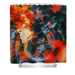 Shower Curtain featuring the painting Dangerous Passion by Joe Misrasi